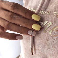 pastel yellow manicure