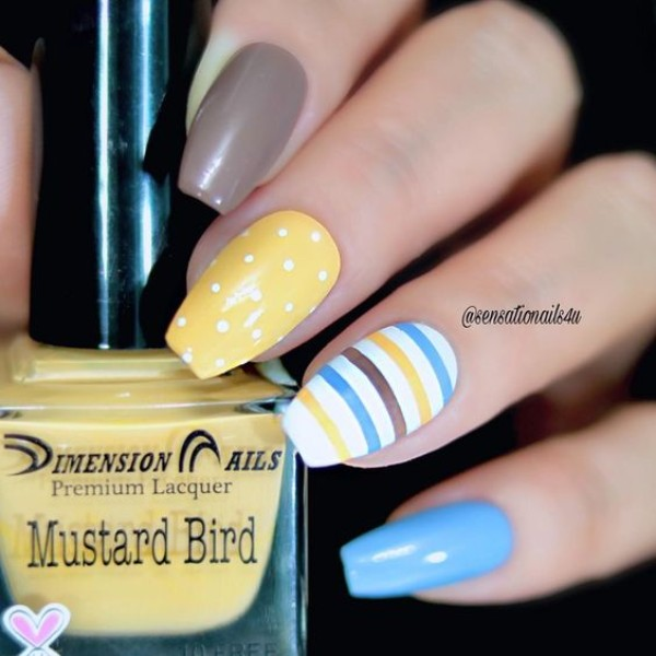 Easter yellow nails
