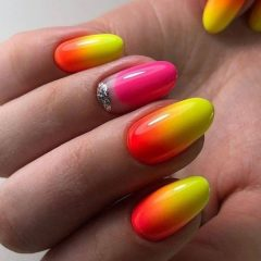 red to yellow nails