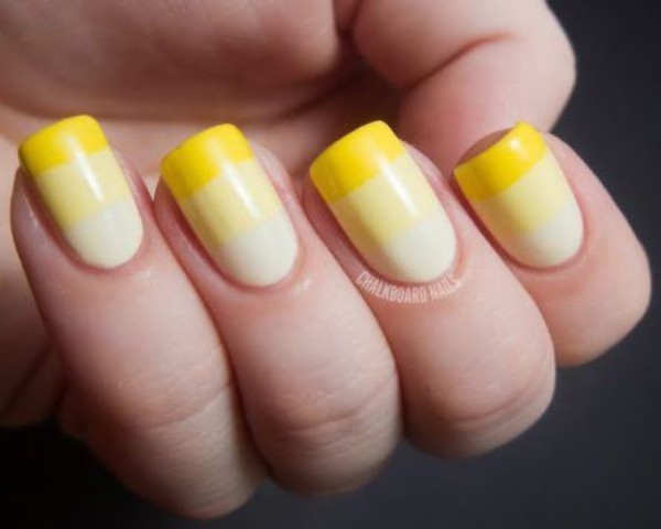 yellow gradient nails