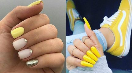 70 Pictures with Yellow Nail Design Ideas for 2021