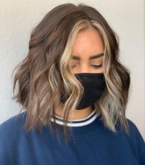 Bob Haircut with Money Piece Blonde Balayage
