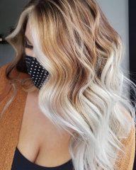 Wheat Blonde Hair with Platinum Blonde Money Pieces