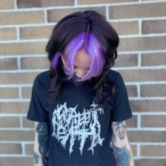 Purple hair Color for Young Girls