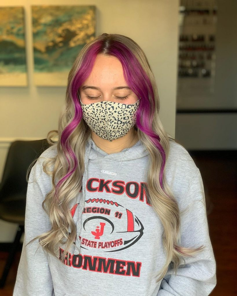 Pink Emo Hair Highlights for Girls