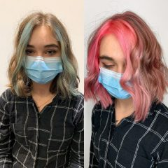 Pink Front Highlights for Young Ladies