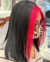 Idea of Pink Highlights for Emo Teens