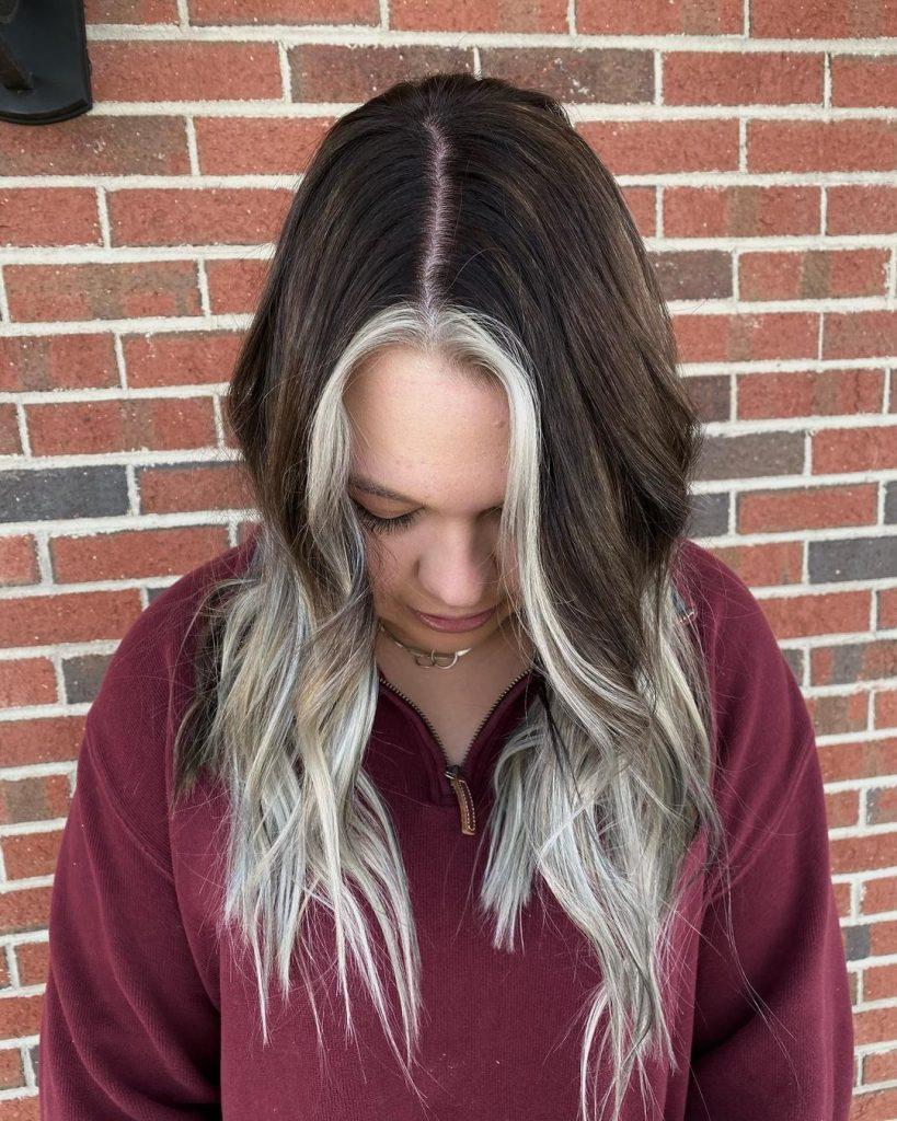 Brown Highlighted Hair on Teenage Girl