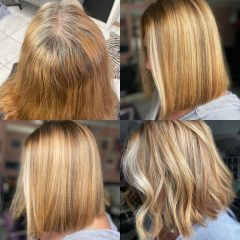 Red and Blonde Hair Color with Highlights for Teenagers