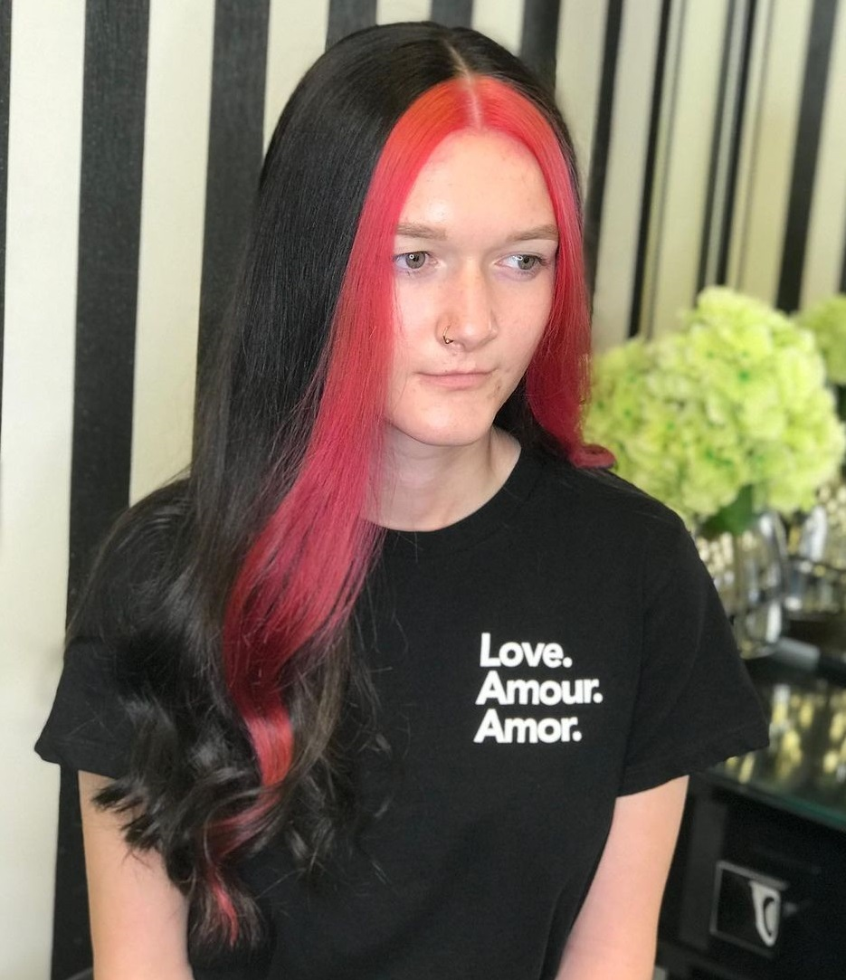Teenage Hairstyle with Front Highlights