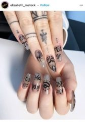 Tattoo Drawing on Nails