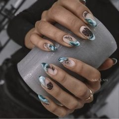 Summer Tattoo Styled Nails