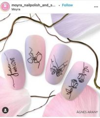 tattooed nails