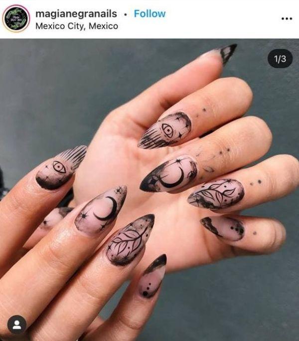 tattoo ink nails