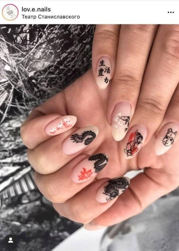 tattoo nail design