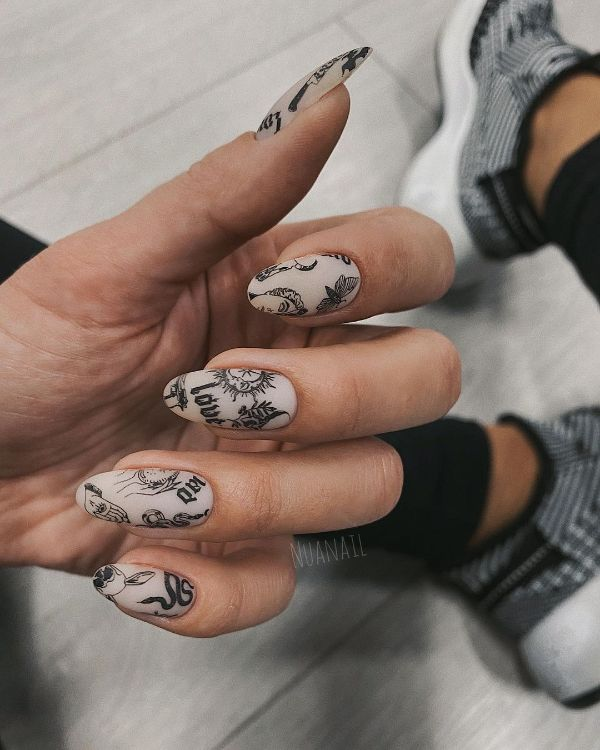Nails with Tattoos