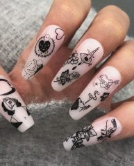 tattoo acrylic nails