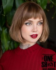 Traditional French Bob with Bangs
