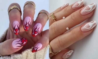 50 Ideas of Trendy Flame Nail Designs