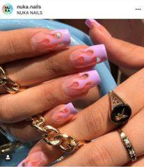 Light Violet Flame Nails