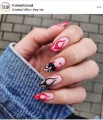 Devil Flame Nails