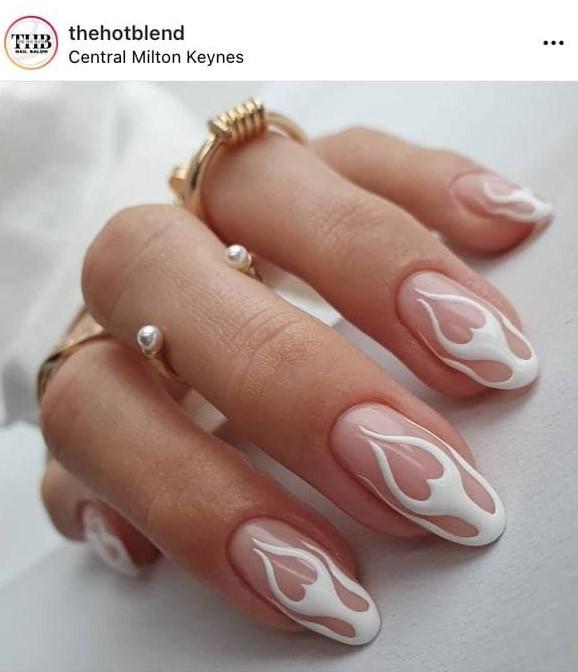 White Flame Nails