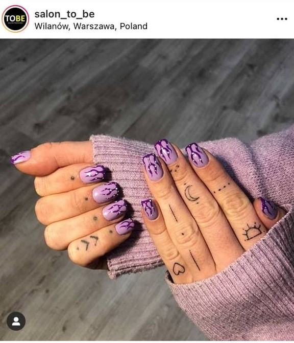 Purple Flame Nails