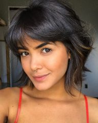 Cute Feminine Banged French Bob