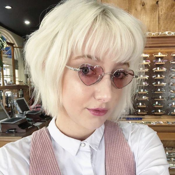 White French Bob with Glasses