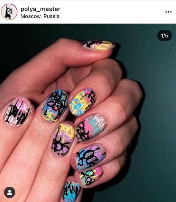 Graffiti Nail Design