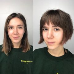 Short Teenage Girls French Bob