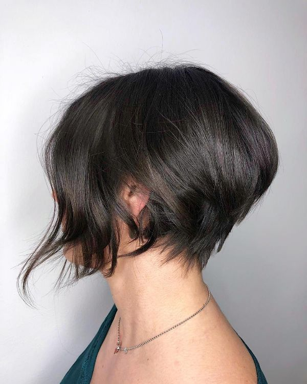 French Bob Haircut for Brunettes