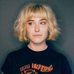 Wheat Blonde French Bob Hairstyle