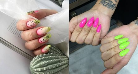 40 TOP Ideas of Pink and Green Nail Designs