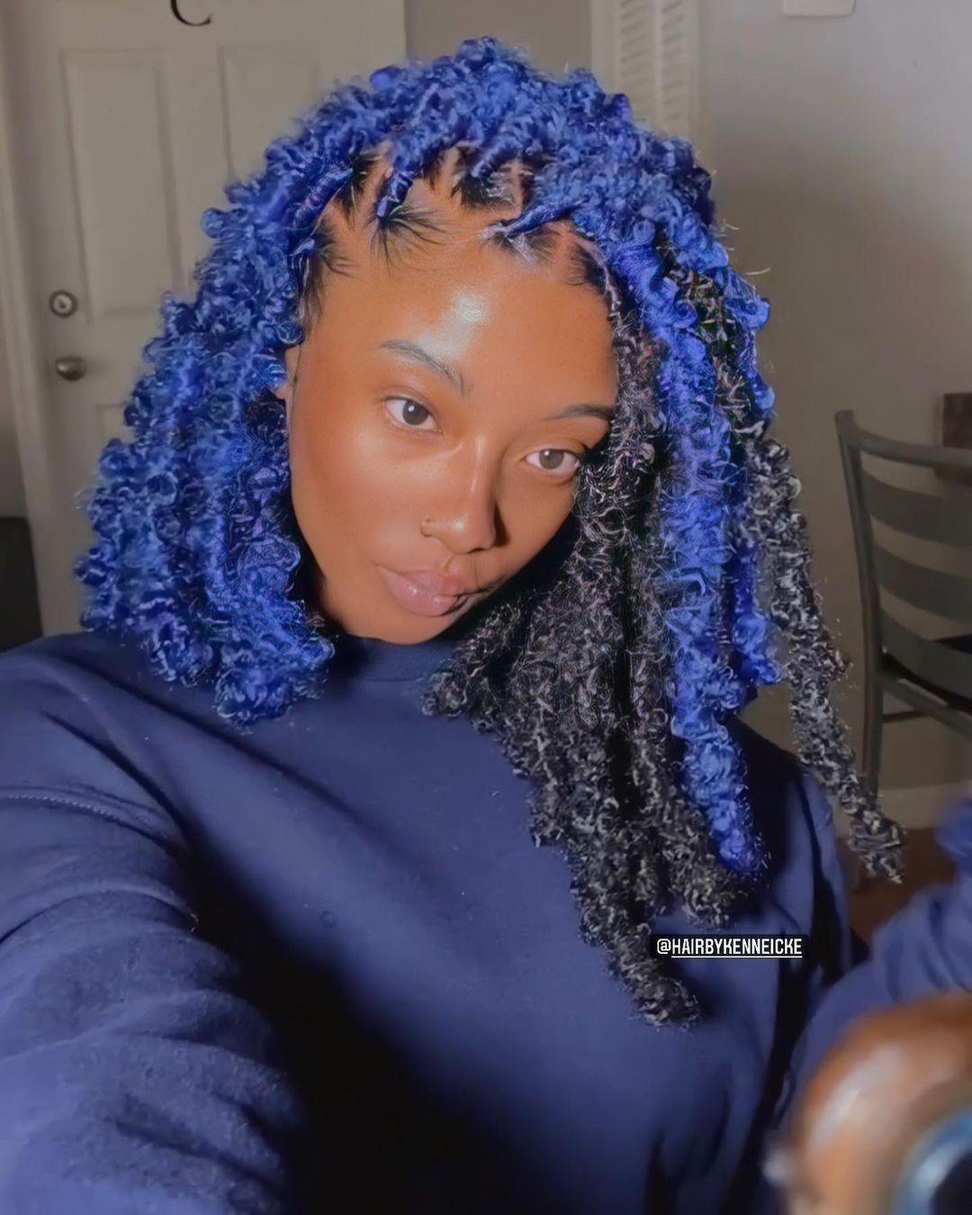 Blue Butterfly Braids