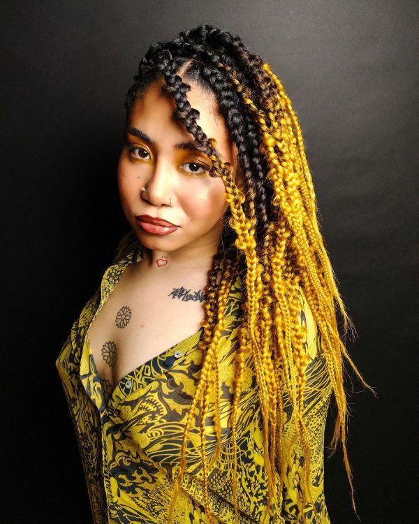 Black and Yellow Jungle Braids