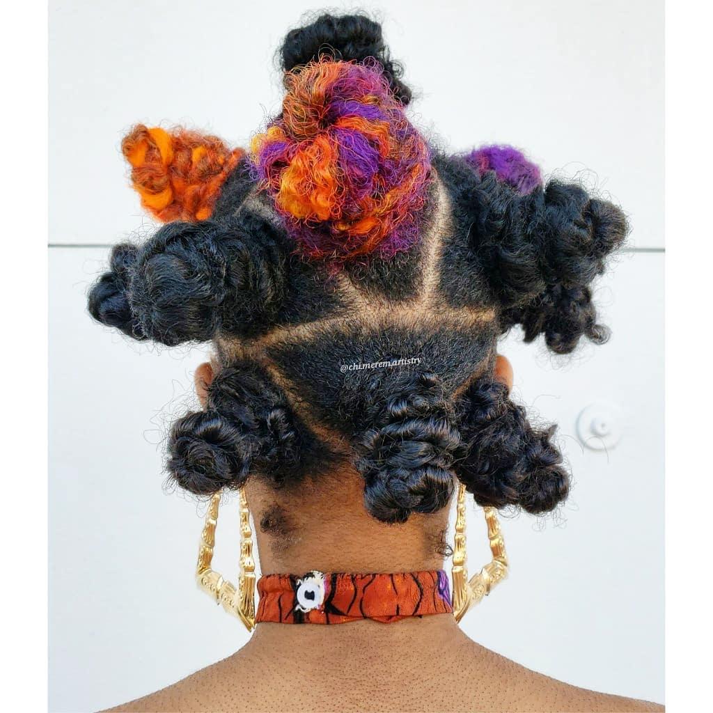 Knotless Butterfly Braids in Bantu Knots