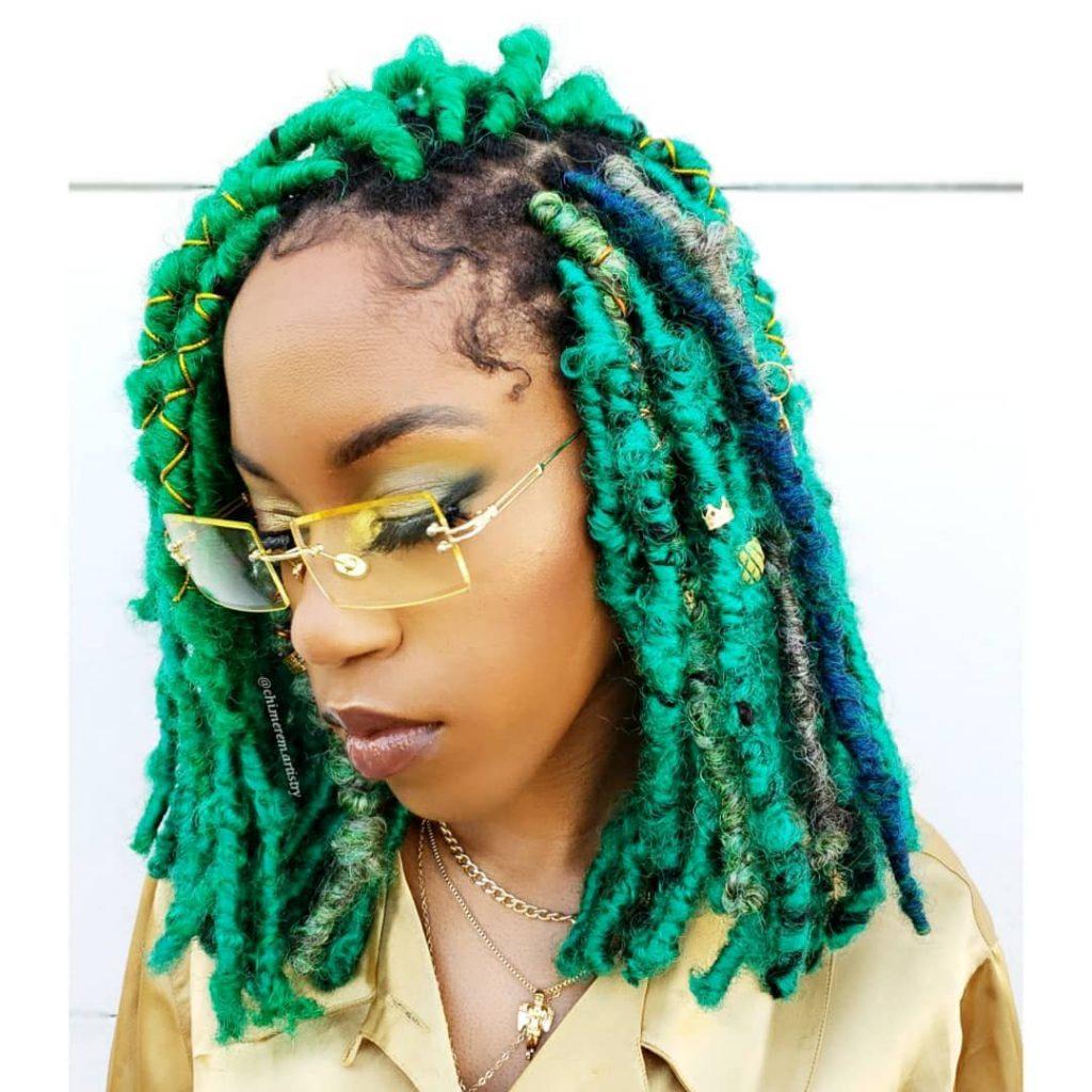 Green Butterfly Braids