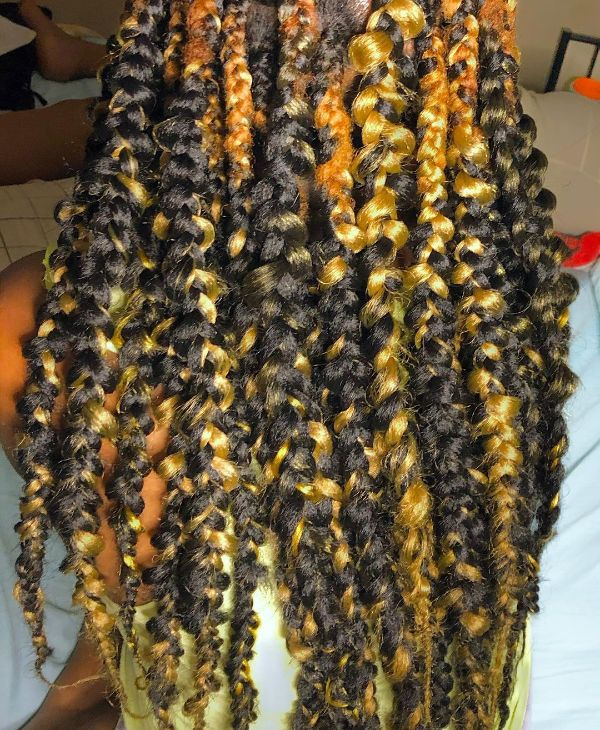 Mixed Colors Jungle Braids