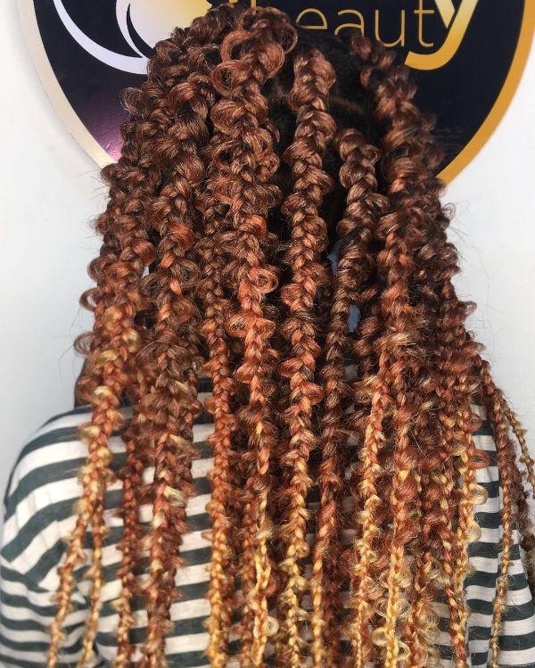 Dark Brown to Light Brown Jungle Braids