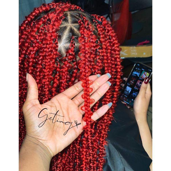 Red Jungle Braids