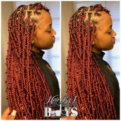 Long Dark Red Jungle Braids