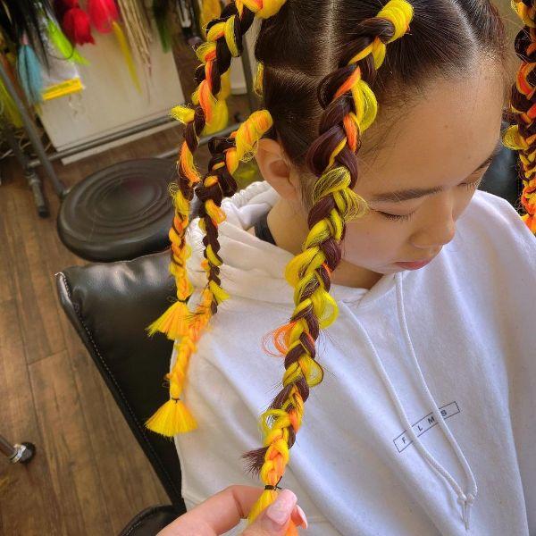 Brown to Yellow Jungle Braids