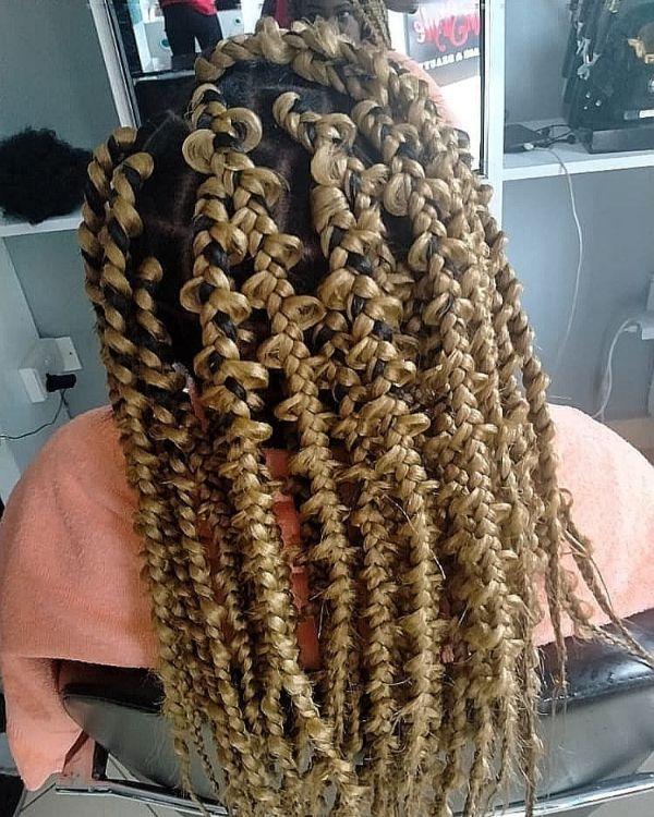 Dirty Blonde Jungle Braids