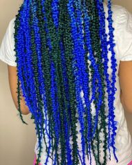 Denim and Indigo Blue Jungle Braids