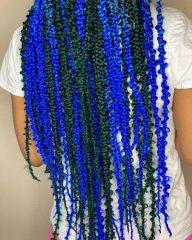 Denim and Indigo Blue Jungle Braids