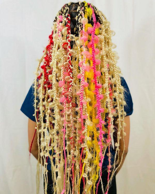 Multicolor Jungle Braids