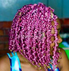 Violet Purple Jungle Braids