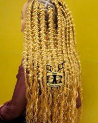 Long Blonde Jungle Braids