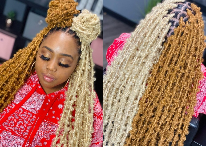 Two-Tone Butterfly Braids